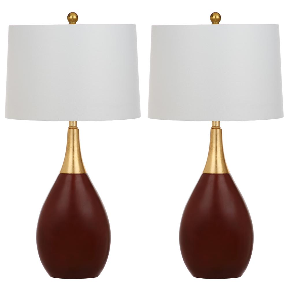 Safavieh Medallion 27.5 In. Gold/Walnut Table Lamp (Set Of 2) LIT4507A SET2    The Home Depot