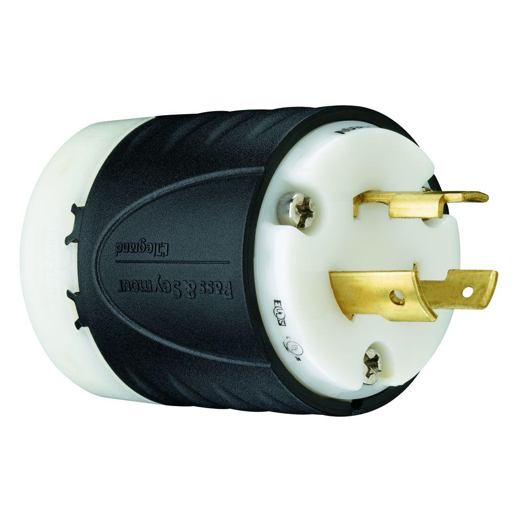 Legrand Pass and Seymour 20 Amp 125-Volt Straight Plug-PS5366XCCV4 ...