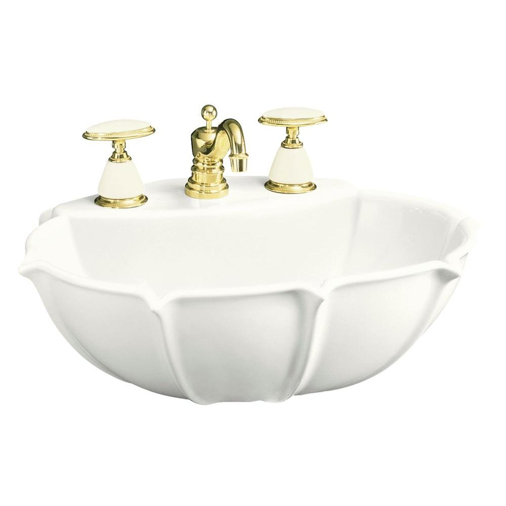 KOHLER Anatole 6-5/8 in. Vitreous China Pedestal Sink Basin in White