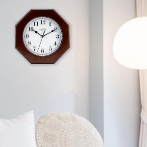 La Crosse Technology 9.5 inch H Octagonal Wood Analog Wall Clock by La Crosse Technology
