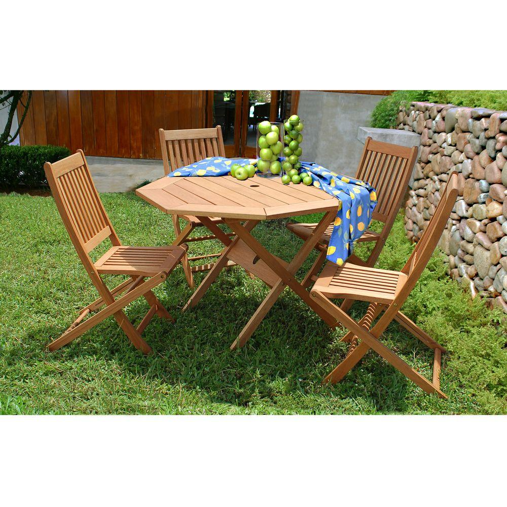 Ia Milano 5 Piece Octagon Patio Dining Set