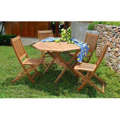 Milano 5-Piece Octagon Patio Dining Set