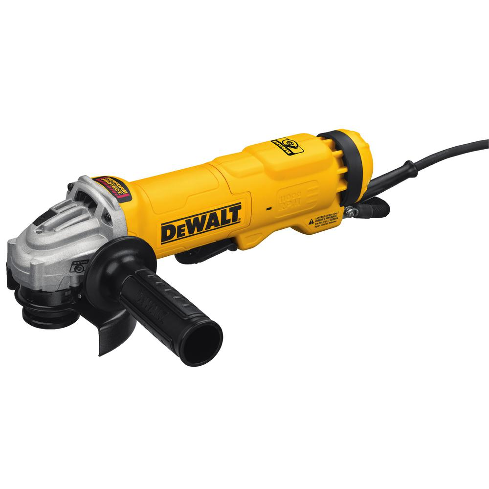 DeWALT 11 Amp Corded 4.5 in. Small Angle Paddle Switch An...