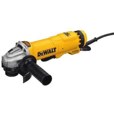 11 Amp Corded 4.5 in. Small Angle Paddle Switch Angle Grinder with Brake and No-Lock On