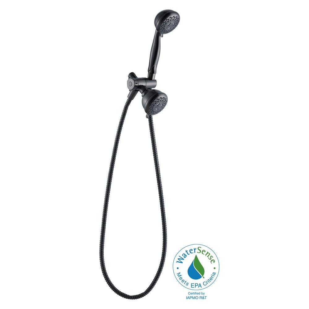 Oil Rubbed Bronze 3-Spray Dual Showerhead Handheld Showerhead ...