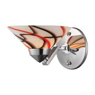 Refraction 1-Light Polished Chrome Wall Mount Sconce