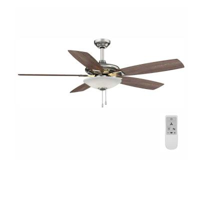 Menage 52 in. Integrated LED Brushed Nickel Ceiling Fan with Light and Remote Control works with Google and Alexa