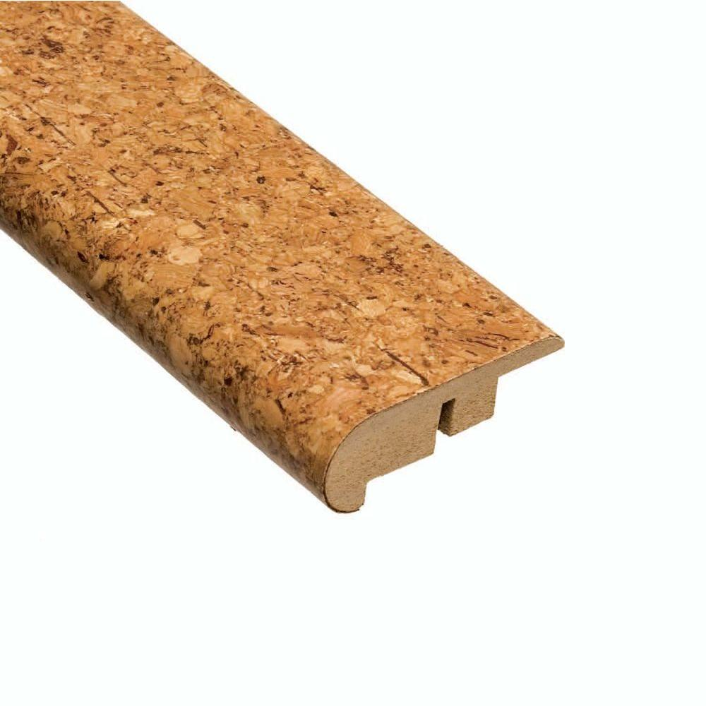 Azores Natural 1/2 in. Thick x 2-3/16 in. Wide x 78 in. Length Cork Stair Nose Molding, Brown