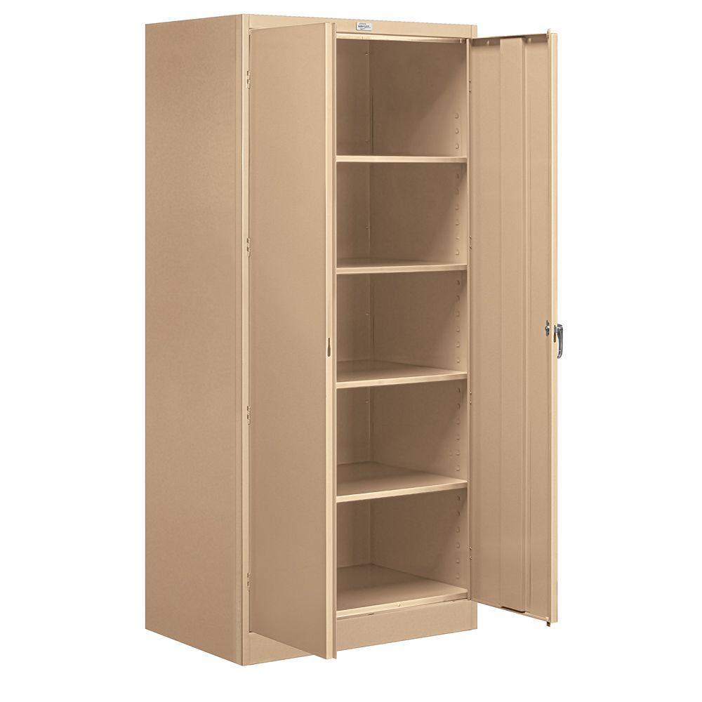 36 in. W x 78 in. H x 24 in. D Standard Storage Cabinet Assembled in Tan