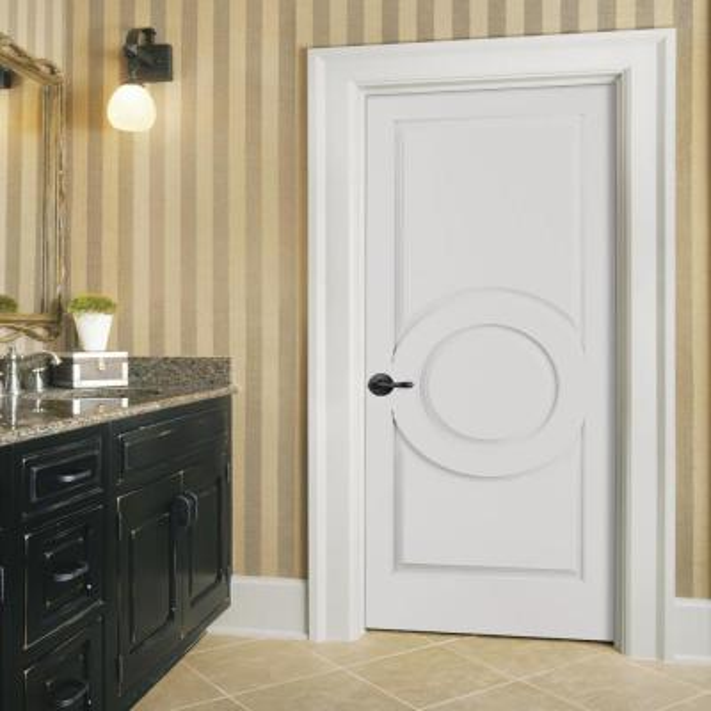Carved C3140 Smooth 3-Panel Primed MDF Single Prehung Interior Door