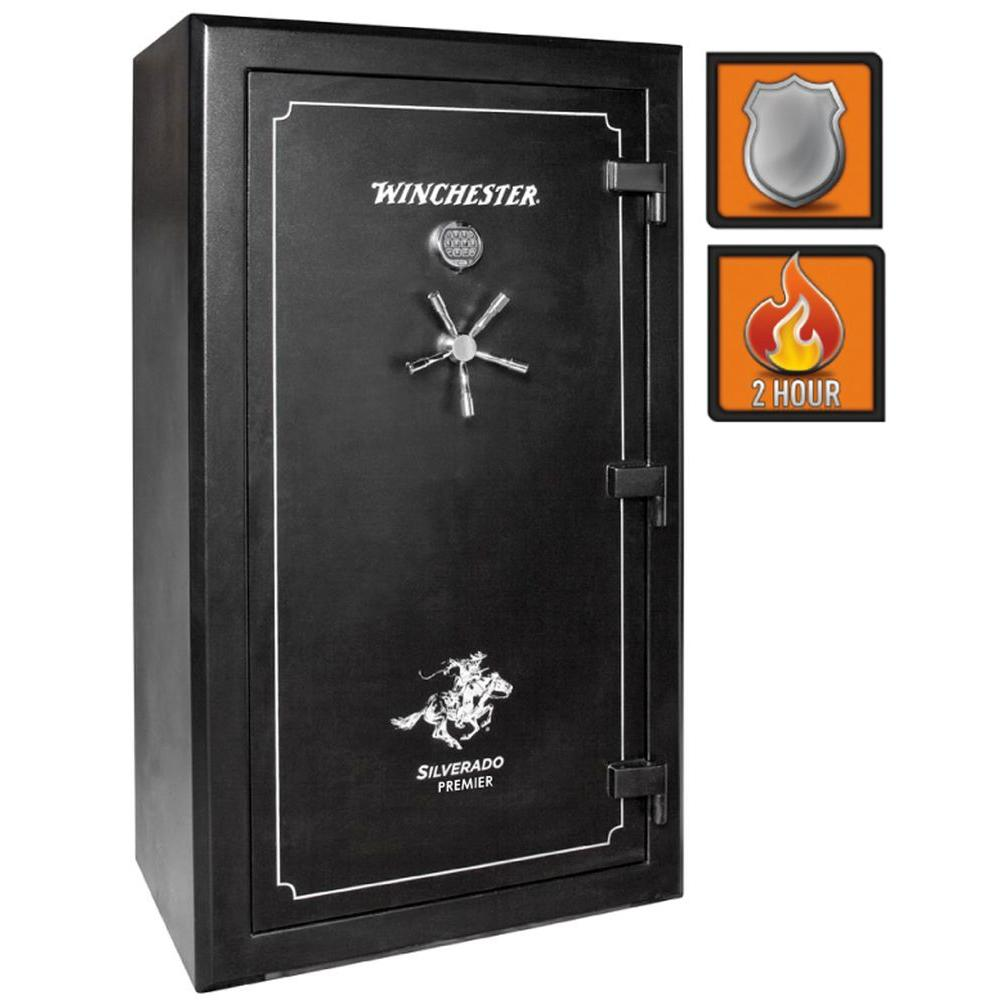 Winchester Safes Silverado Premier 49 54-Gun Black Gloss Fire-Safe Electronic Lock