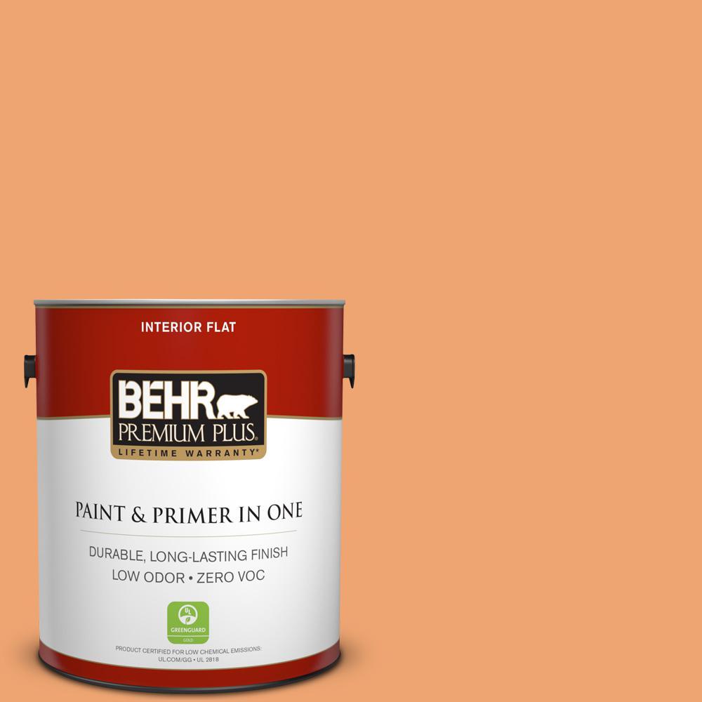 1 gal. #HDC-SP16-04 Apricot Jam Zero VOC Flat Interior Paint