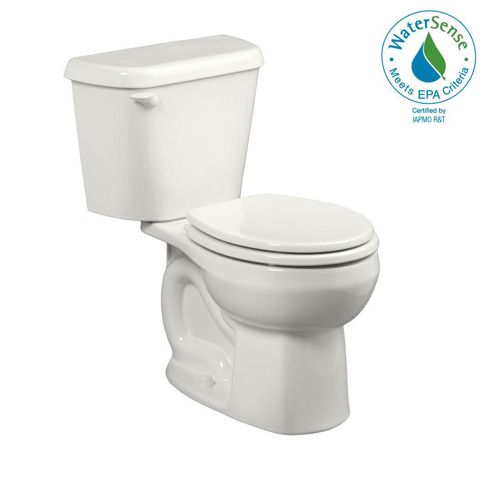 Colony 2-Piece 1.28 GPF Single Flush Round Toilet in White