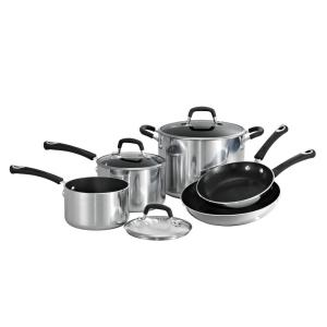 Tramontina Style Polished Aluminum 8-Piece Cookware Set by Tramontina