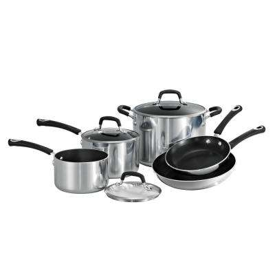 Style Polished Aluminum 8-Piece Cookware Set