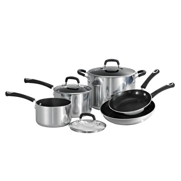 Tramontina Style Polished Aluminum 8-Piece Cookware Set