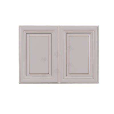 Princeton Assembled 30 in. x 24 in. x 12 in. 2-Door Wall Cabinet with 1-Shelves in Creamy White Glazed