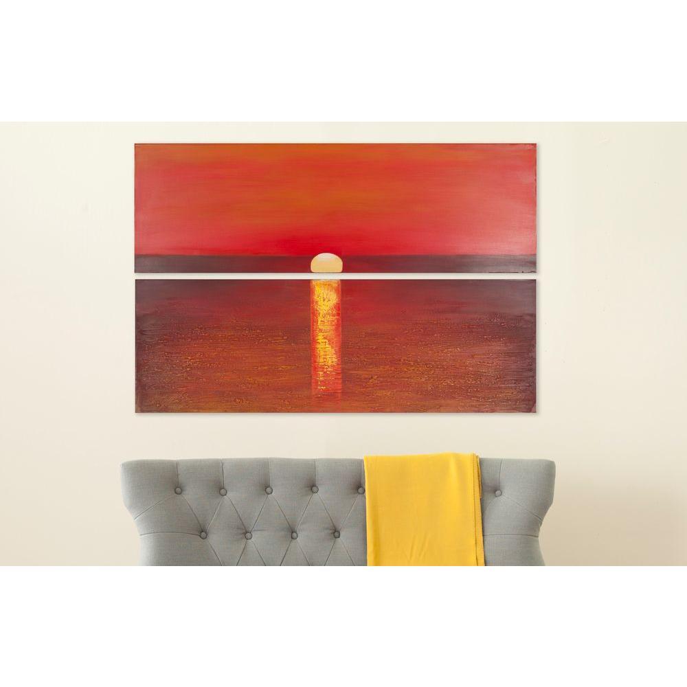 "48 in. x 16 in. ""Sanibel Sunset"" Wall Art"