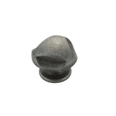 1-1/8 in. (28 mm) Wrought Iron Traditional Metal Cabinet Knob