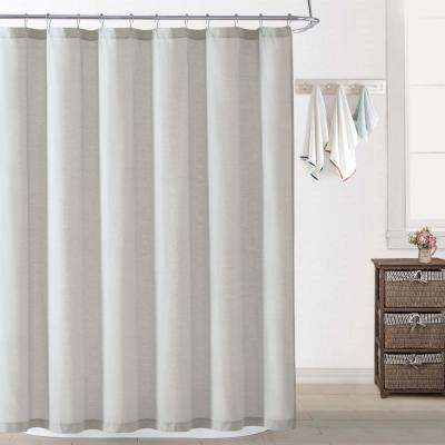 Chambray Coast Silver Grey Shower Curtain