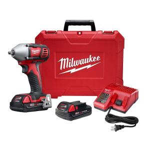 Milwaukee M18 18-Volt Lithium-Ion Cordless 3/8 inch Impact Wrench W/ Friction Ring W/(2) 1.5Ah Batteries, Charger, Hard... by Milwaukee