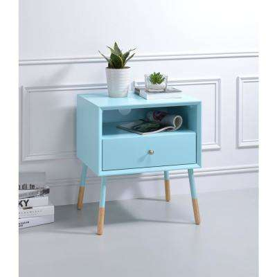 Sonria II Light Blue and Natural End Table