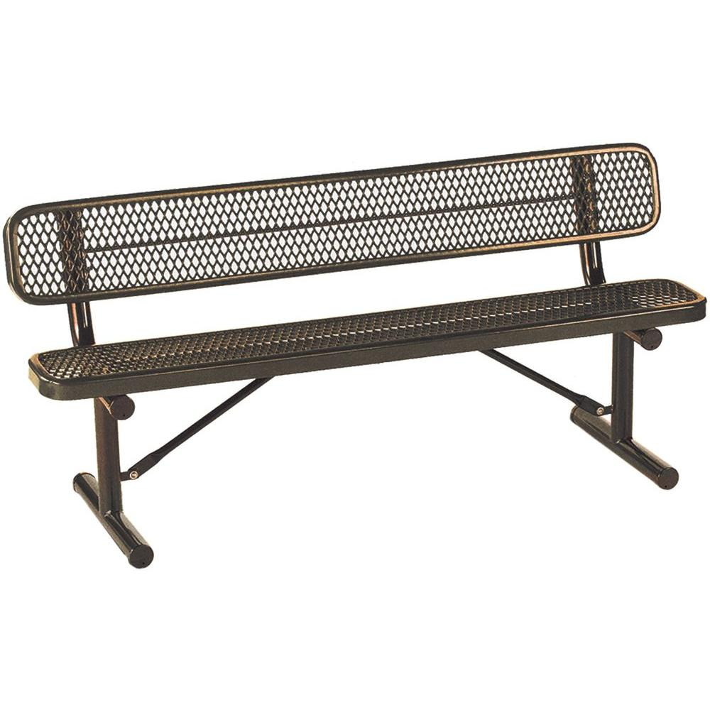 Tradewinds Park 8 ft. Brown Commercial Bench