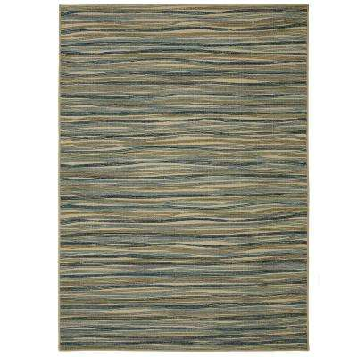 Melody Stripe Cool 7 ft. 6in. x 10 ft. Area Rug