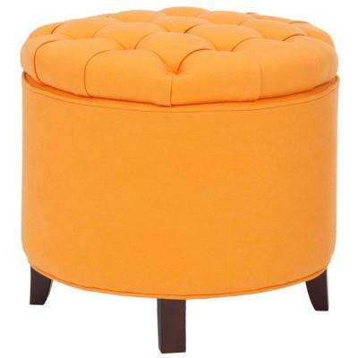 Safavieh Orange Ottomans Living Room Furniture The Home Depot