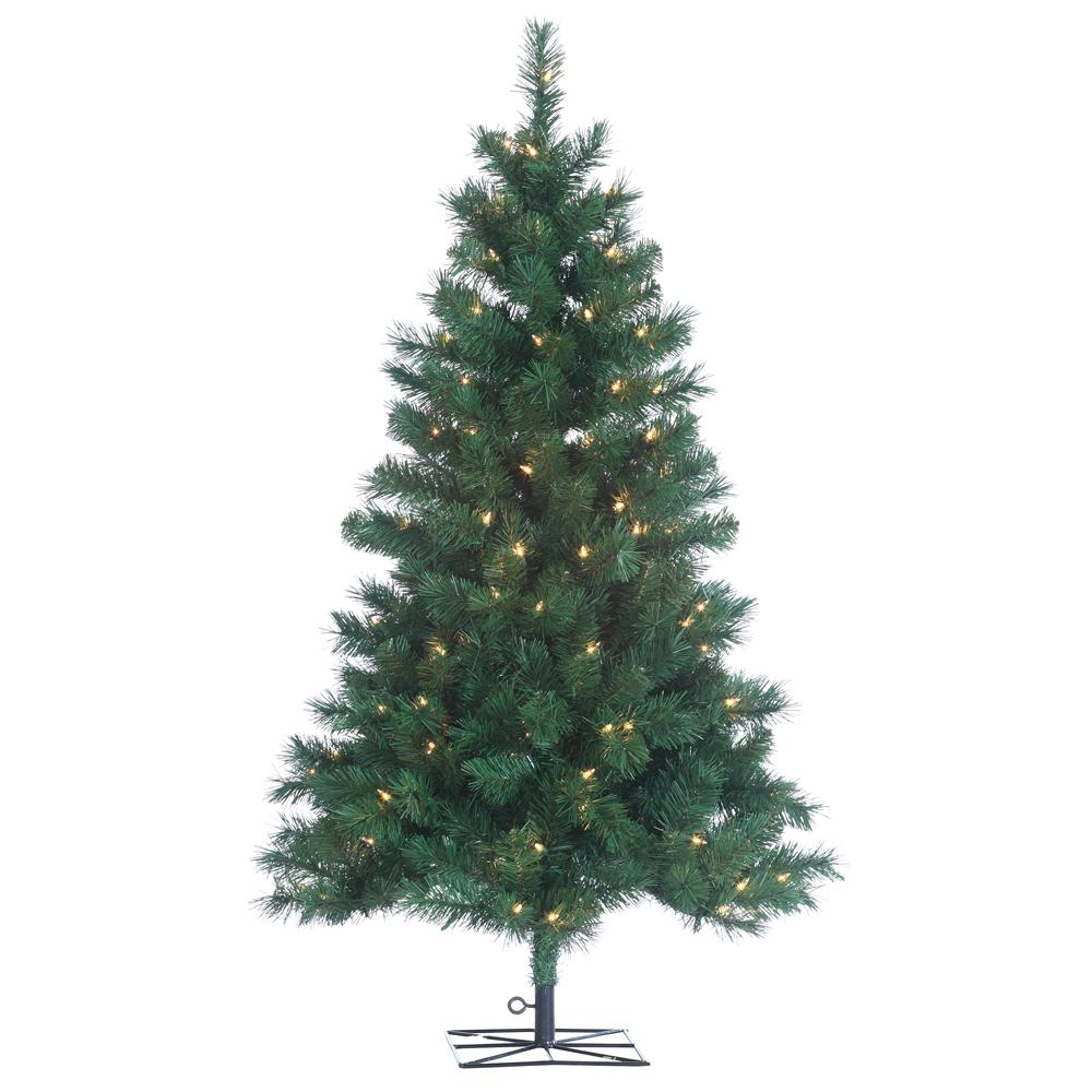 Artificial 4 Foot Christmas Trees: Sterling 4 Ft. Indoor Pre-Lit Colorado Spruce Artificial