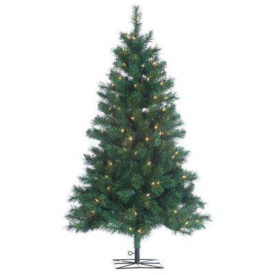 4 ft. Indoor Pre-Lit Colorado Spruce Artificial Christmas Tree with 150 UL Lights