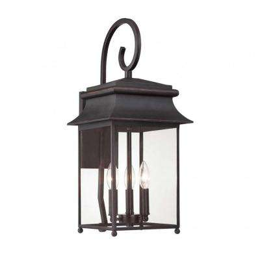 Nielsen 3-Light Slate Outdoor Wall Mount Lantern
