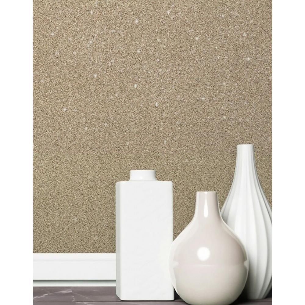 56.4 sq. ft. Sparkle Gold Glitter Wallpaper