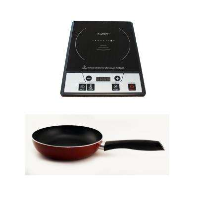 Tronic 12 in. Induction Cooktop in Black with 1 Element and Fry Pan