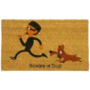 Beware of Dog 18 in. x 30 in. Welcome Mat