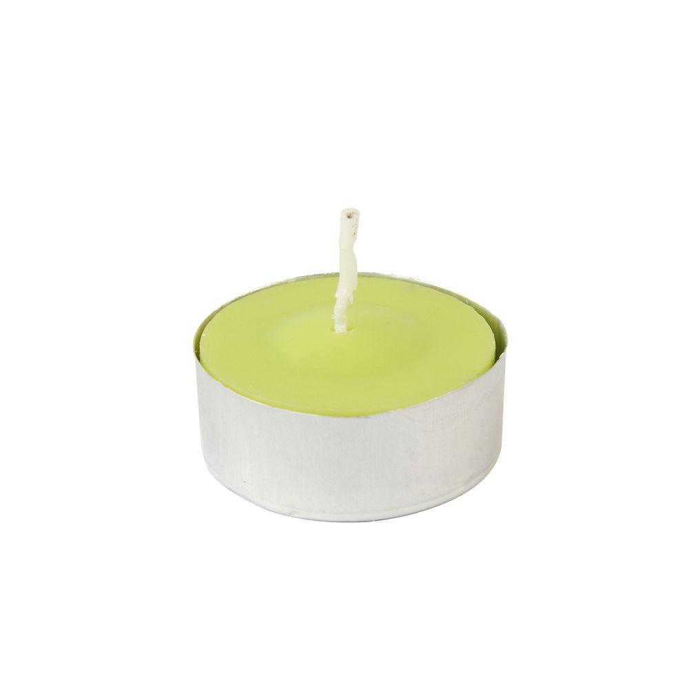 1.5 in. Lime Green Citronella Tealight Candles (100-Box), Greens