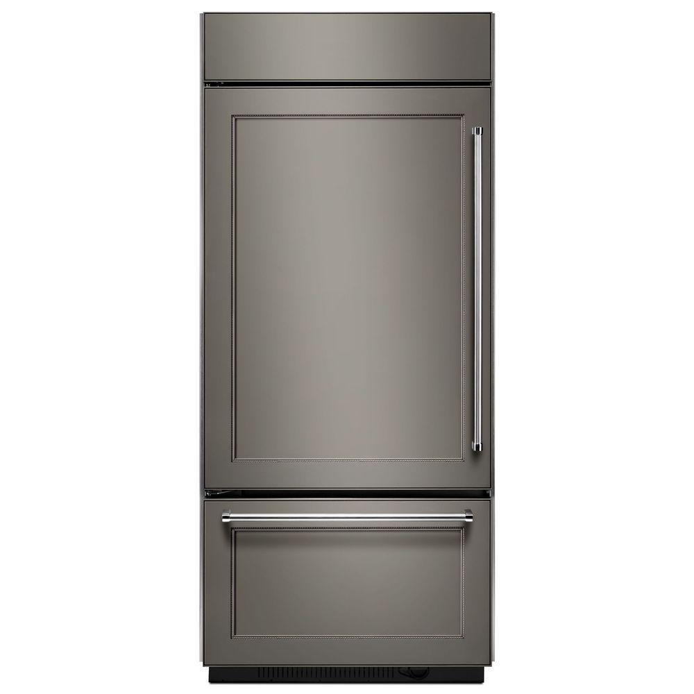 Kitchenaid 36 In W 20 9 Cu Ft Built In Bottom Freezer
