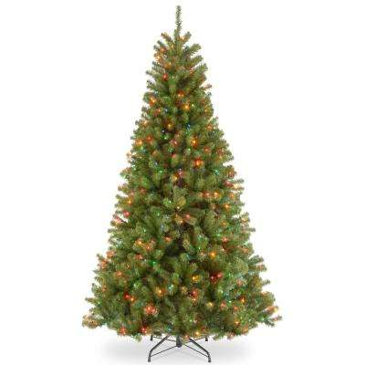 9 ft. North Valley Spruce Artificial Christmas Tree with Multicolor Lights