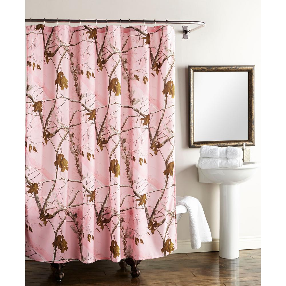 shower curtain in pink the home depot