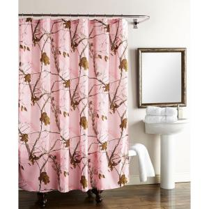 Realtree 72 inch Shower Curtain in Pink Camo by Realtree