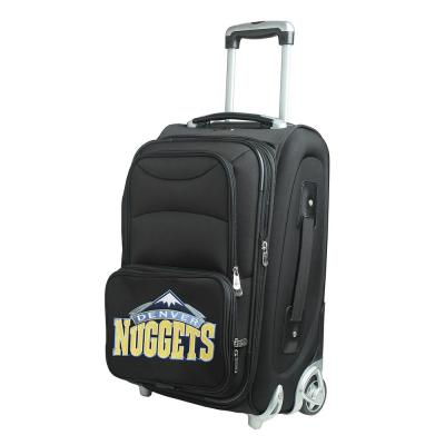 Denco NBA Denver Nuggets 21 in. Black Carry-On Rolling Softside Suitcase