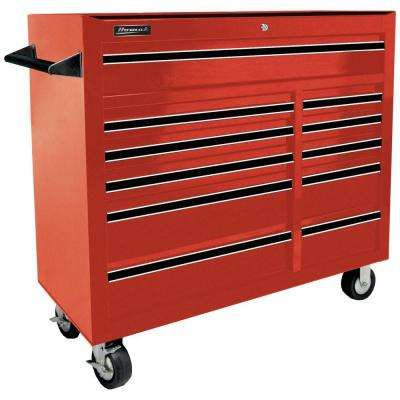 Professional 41 in. 11-Drawer Rolling Cabinet, Red