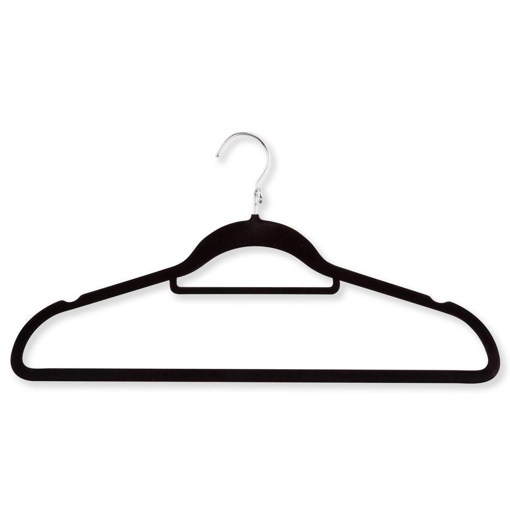 Velvet Touch Cascading Black Suit Hanger (18-Pack)