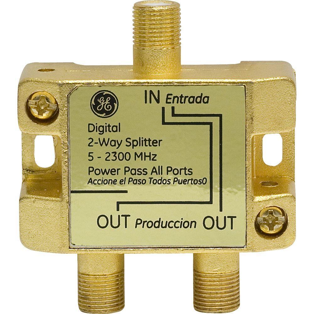 GE 2-Way 2500MHz Coax Splitter