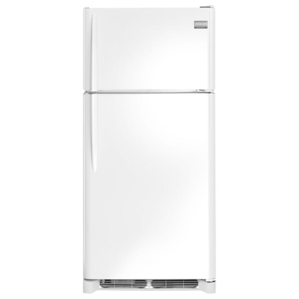 frigidaire gallery 18 1 cu ft top freezer refrigerator in pearl white energy star shop. Black Bedroom Furniture Sets. Home Design Ideas