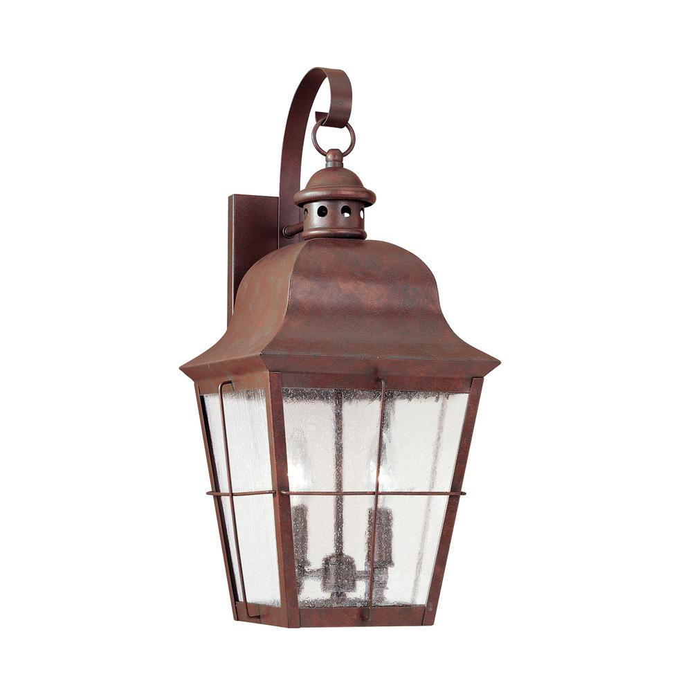 Chatham 2-Light Silver Outdoor Wall Mount Lantern