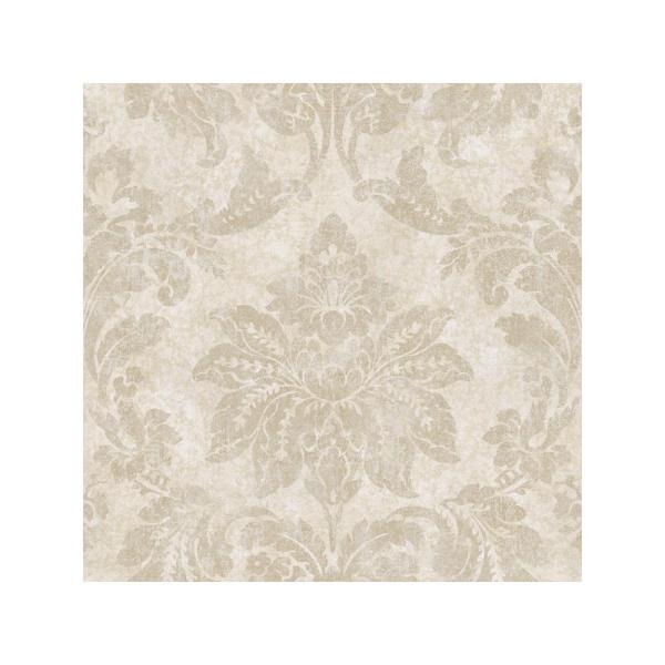 Chesapeake Giles Stone Patina Damask Wallpaper Sample ARS26042SAM