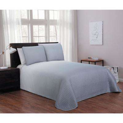 Kenzie Grey Queen Quilt Set (3-piece)
