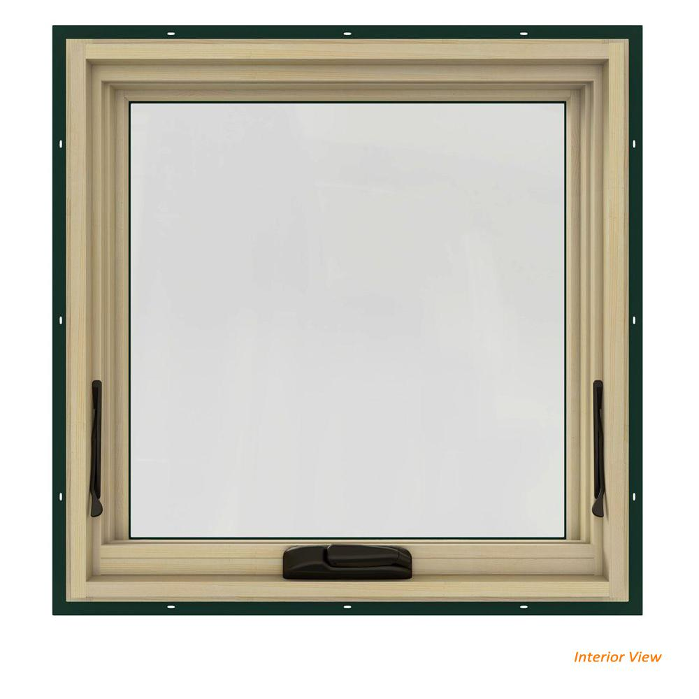 24 in. x 24 in. W-2500 Series Green Painted Clad Wood