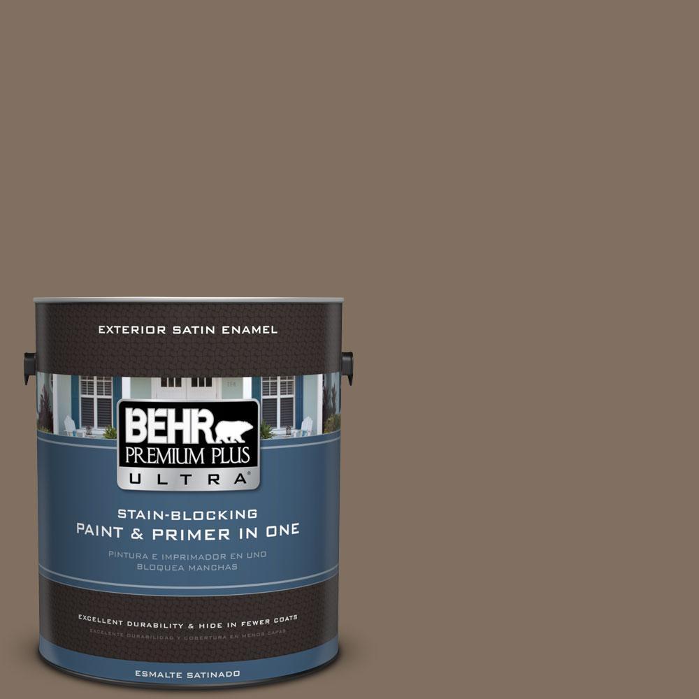 BEHR Premium Plus Ultra 1-gal. #PPU5-4 Mocha Latte Satin Enamel Exterior Paint